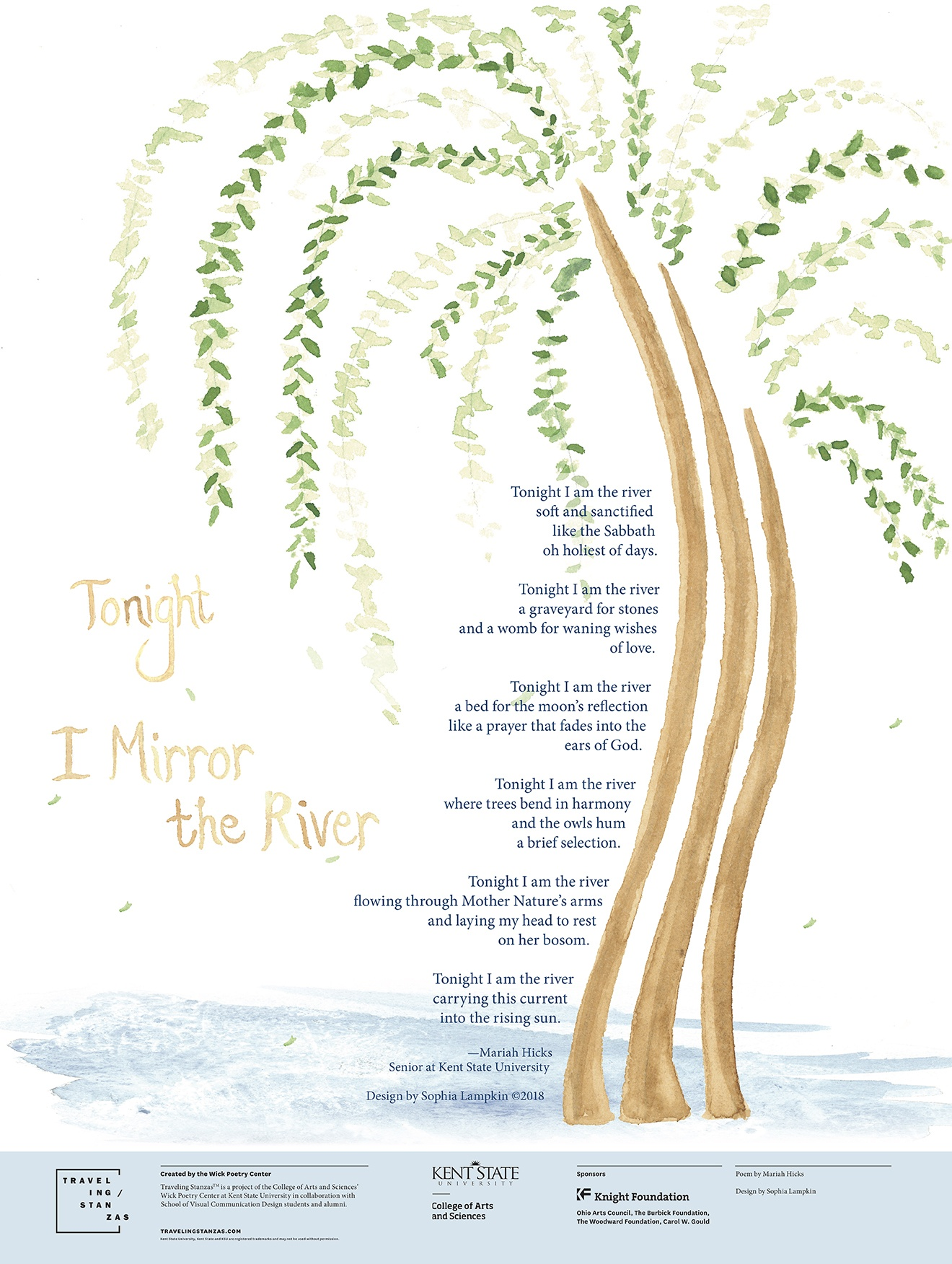Tonight I Mirror the River_18x24_Lampkin