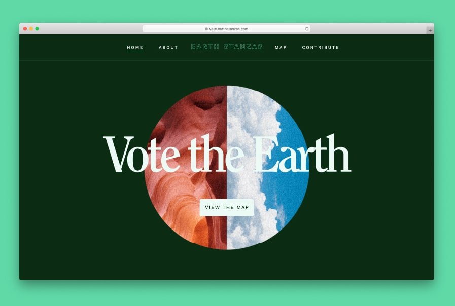 Vote the Earth: Mapping a Community Poem